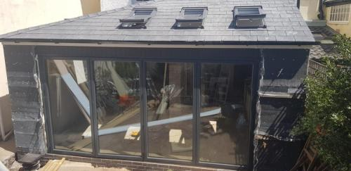 learn-to solid roof conservatory with Durabase base system